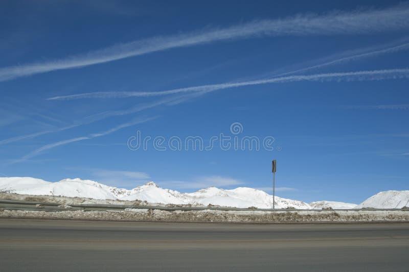 Estrada elevada do país de Colorado. fotografia de stock royalty free