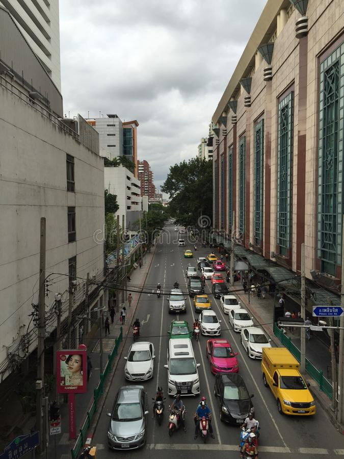 Estrada em Banguecoque foto de stock