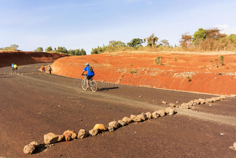Estrada em Etiópia foto de stock