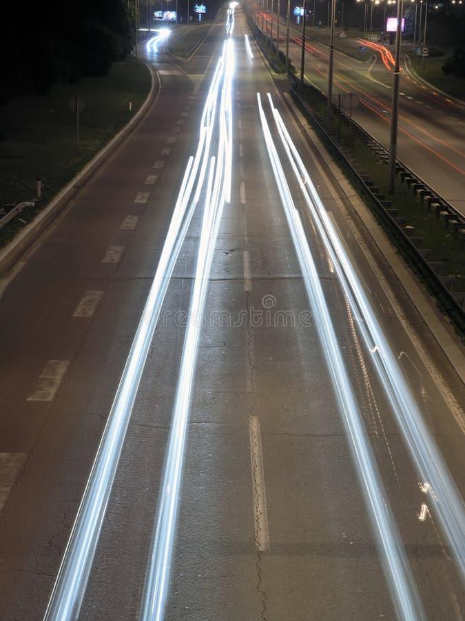 Estrada em a noite foto de stock royalty free