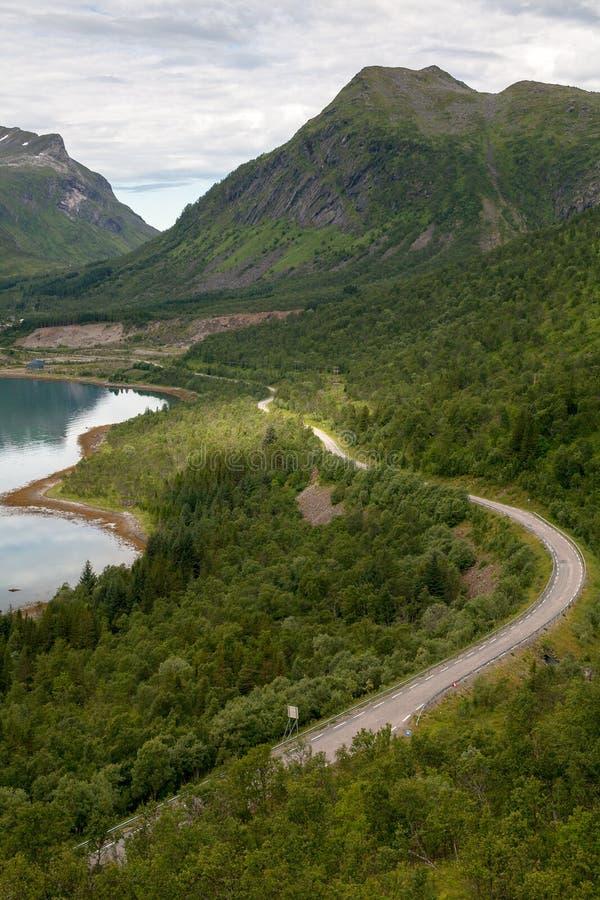 Estrada em Noruega fotos de stock