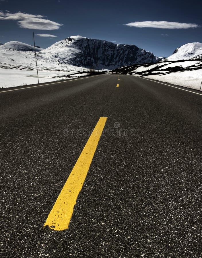 Estrada em Noruega imagens de stock