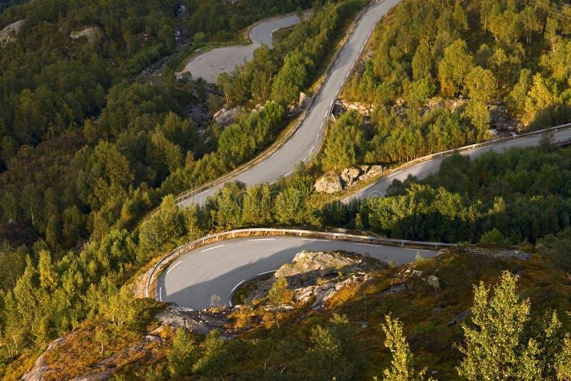 Estrada em Noruega fotos de stock royalty free