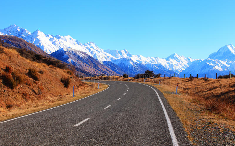 Estrada em Nova Zelândia fotos de stock