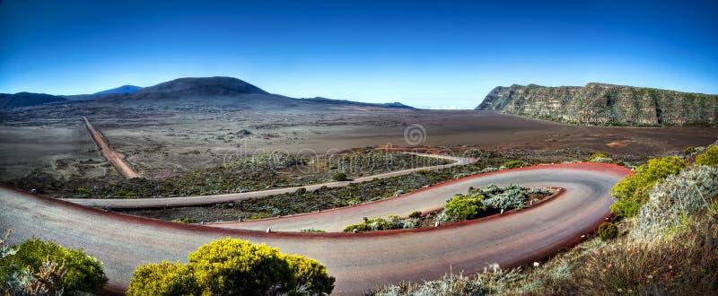 Estrada em Reunion Island imagem de stock royalty free