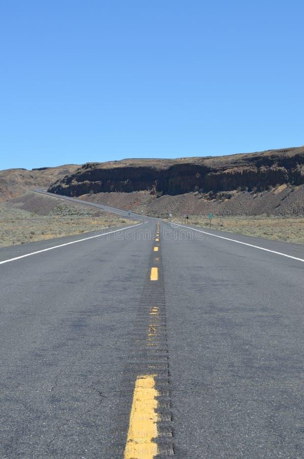 Estrada em Washington State fotos de stock