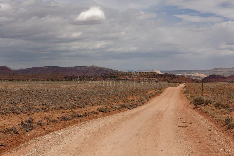 Estrada empoeirada em Utá fotografia de stock