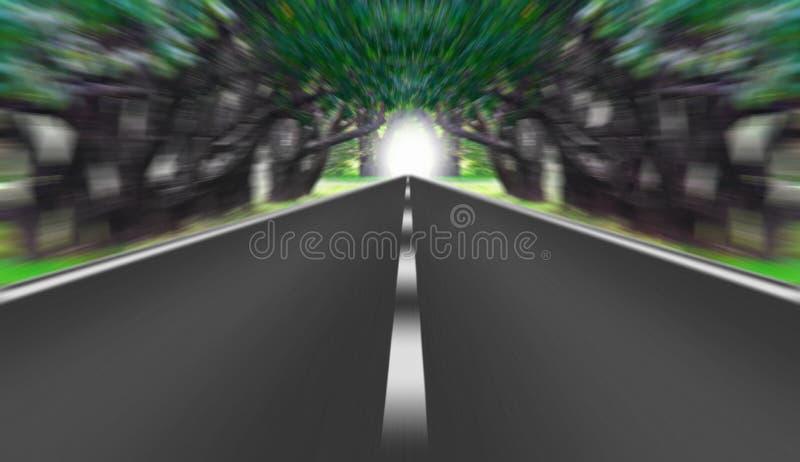 Estrada expressa que desaparece sobre o horizonte ilustração royalty free