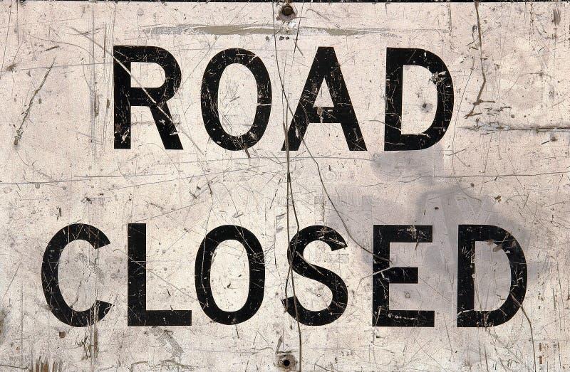 Estrada fechada fotografia de stock