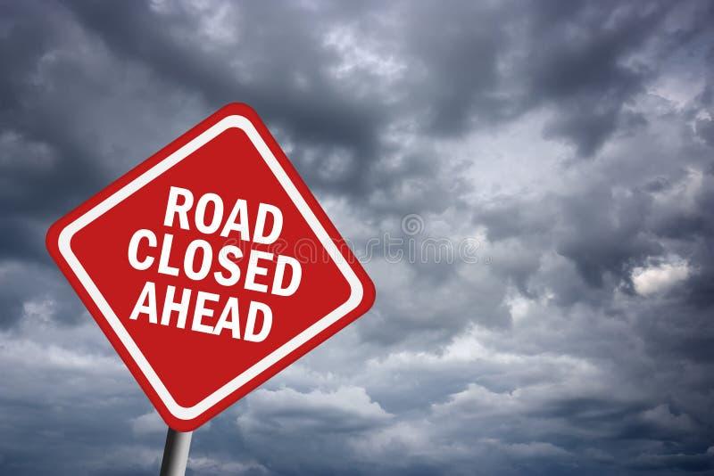 Estrada fechada adiante ilustração do vetor