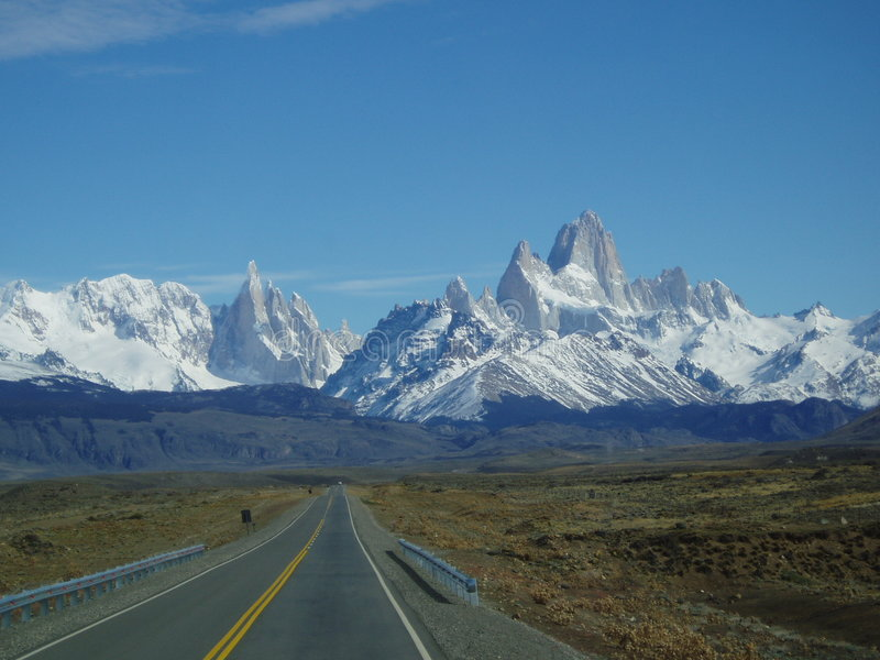 Estrada a Fitz Roy fotos de stock royalty free