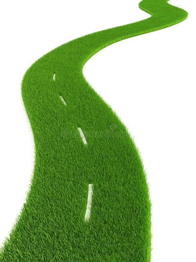 Estrada gramínea ilustração do vetor
