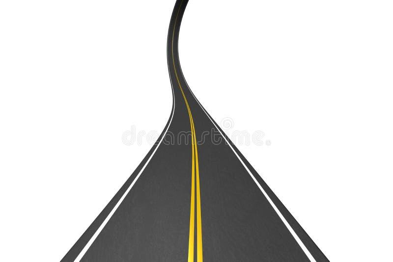 Estrada infinita ilustração do vetor