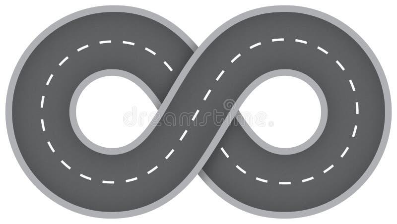 Estrada infinita ilustração royalty free
