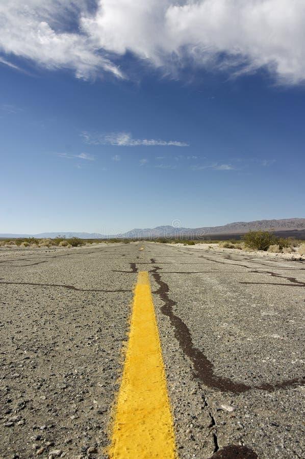 Estrada infinita fotografia de stock