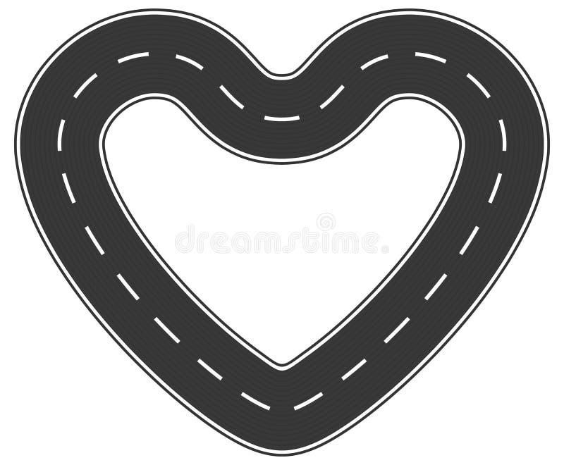 Estrada infinita do amor ilustração do vetor