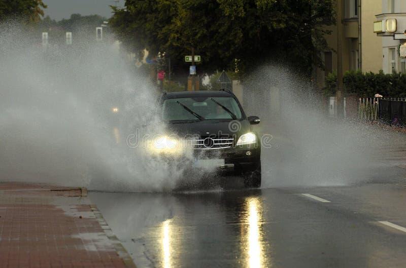 Estrada inundada imagem de stock royalty free