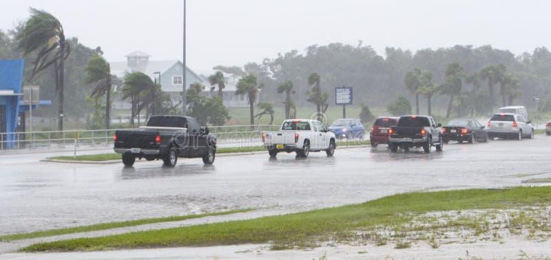 Estrada inundada fotos de stock