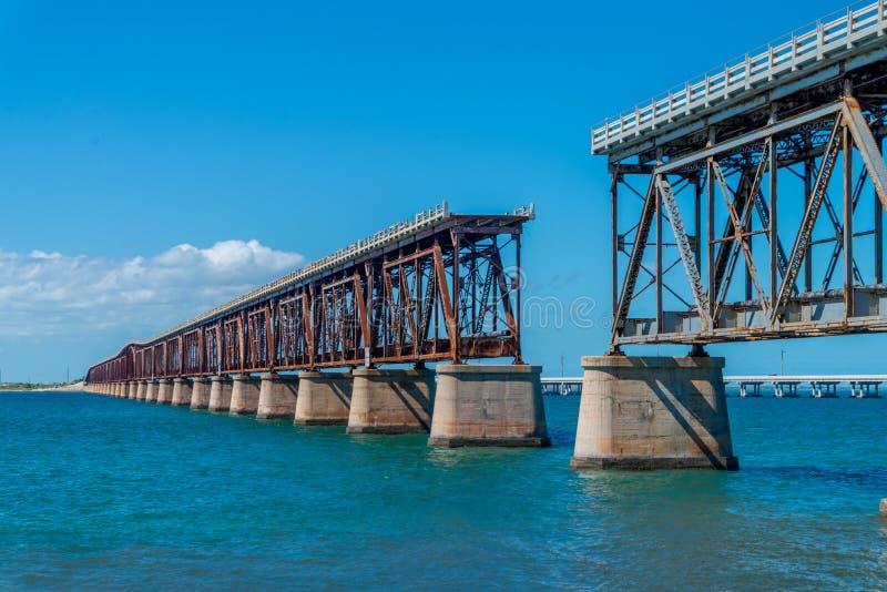 Estrada 1 a Key West em chaves de Florida, EUA imagens de stock royalty free