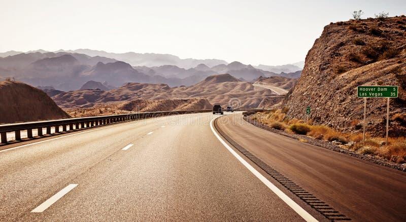 Estrada a Las Vegas foto de stock