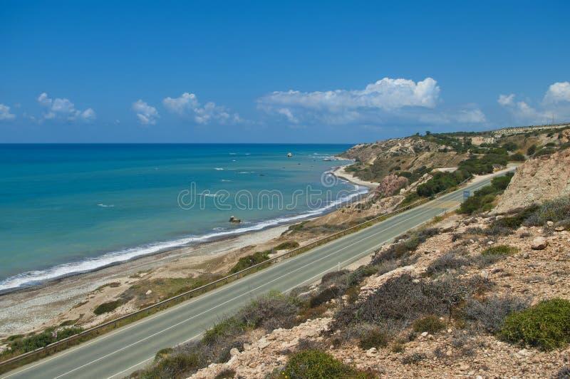 Estrada litoral fotos de stock