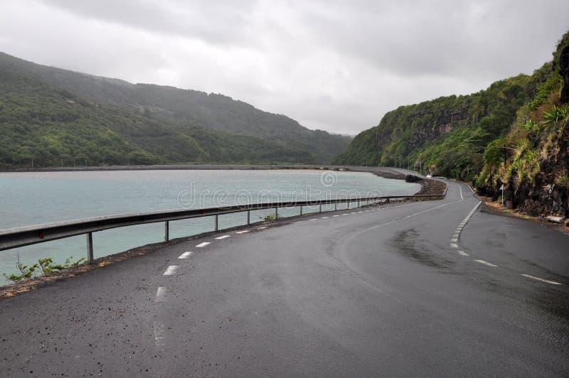 Estrada litoral cênico - Maurícias fotografia de stock