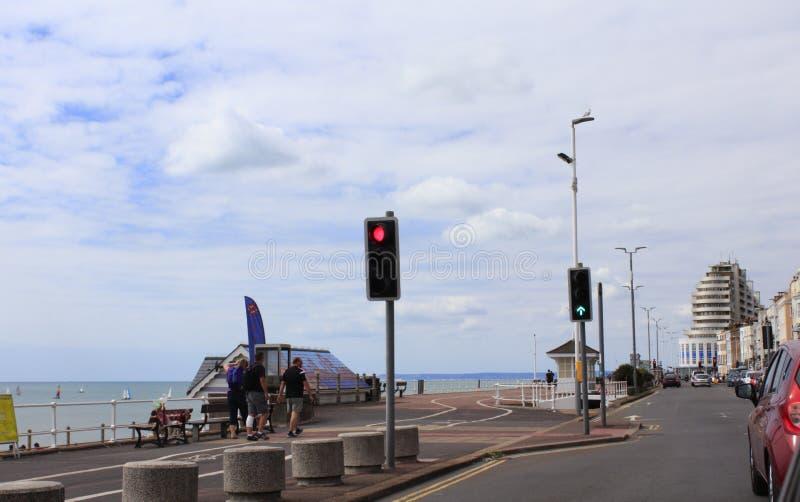Estrada litoral Hastings Reino Unido fotos de stock