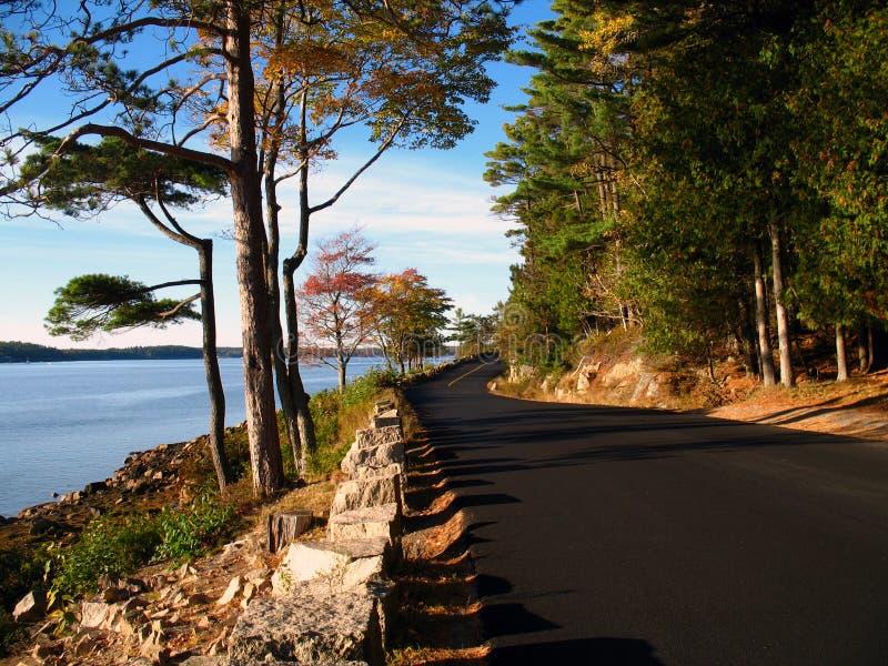 Estrada litoral - Maine fotos de stock royalty free