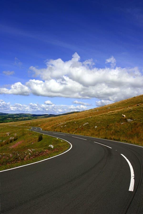 A estrada longa e de enrolamento fotos de stock royalty free