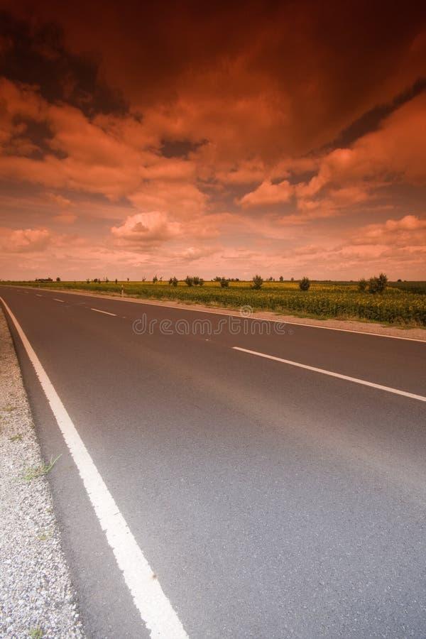 Estrada místico fotografia de stock