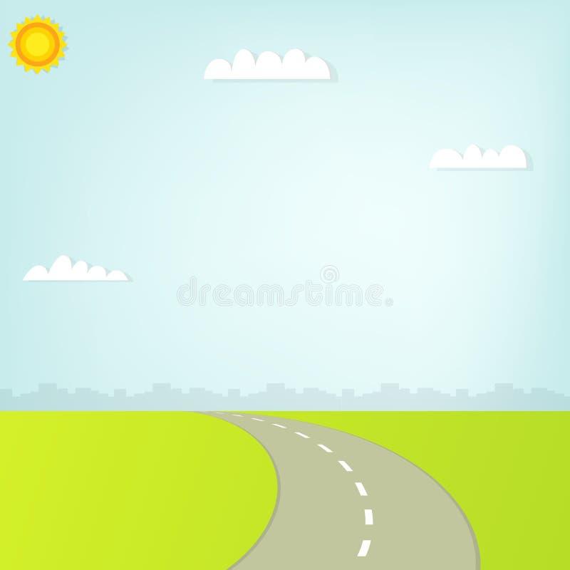Estrada na cidade ilustração stock