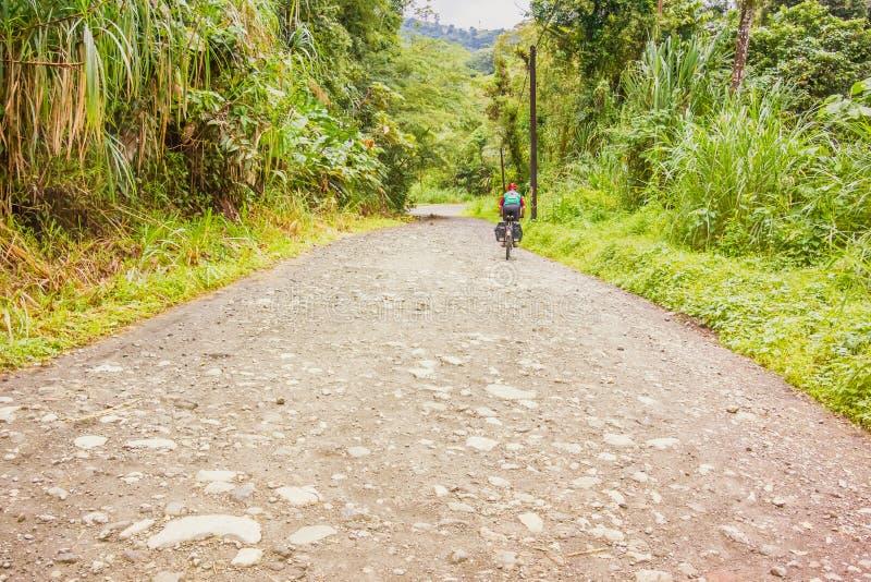 Estrada na floresta tropical no EL Fosforo em Costa Rica fotografia de stock