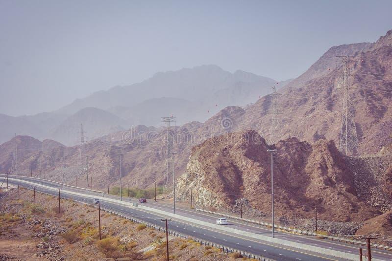 Estrada na montanha imagens de stock
