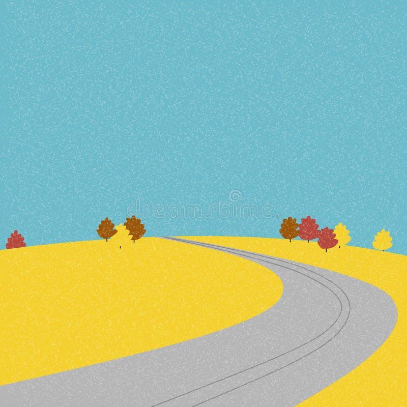 Estrada na montanha durante o outono ilustração stock