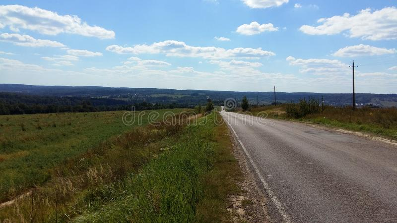 Estrada na região de Moscou imagem de stock royalty free