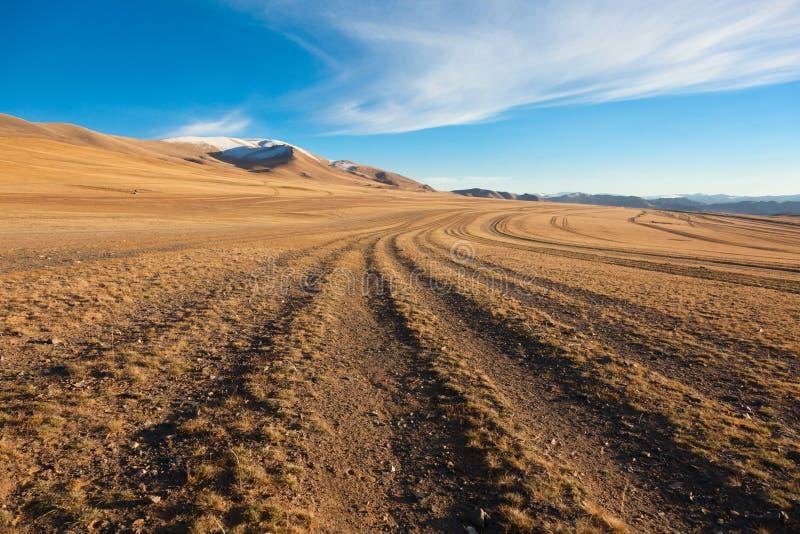 A estrada no deserto fotografia de stock