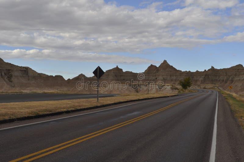 Estrada no parque nacional do ermo imagens de stock