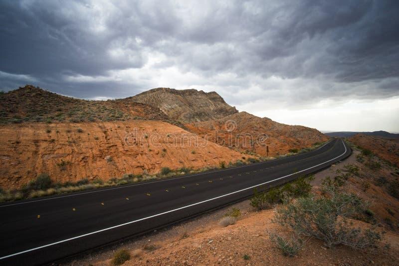 Estrada no vale do fogo imagens de stock royalty free