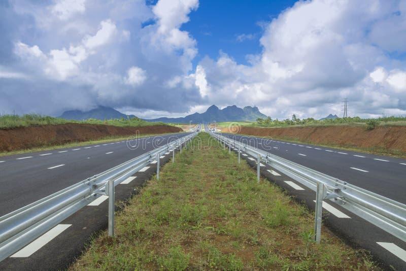 Estrada nova em Maurícias fotos de stock royalty free