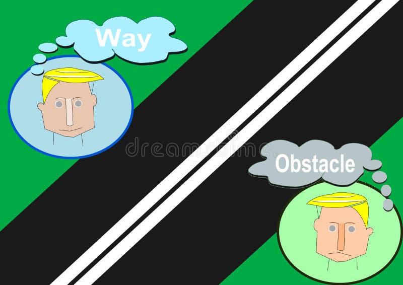 Estrada ou obstáculo ilustração royalty free