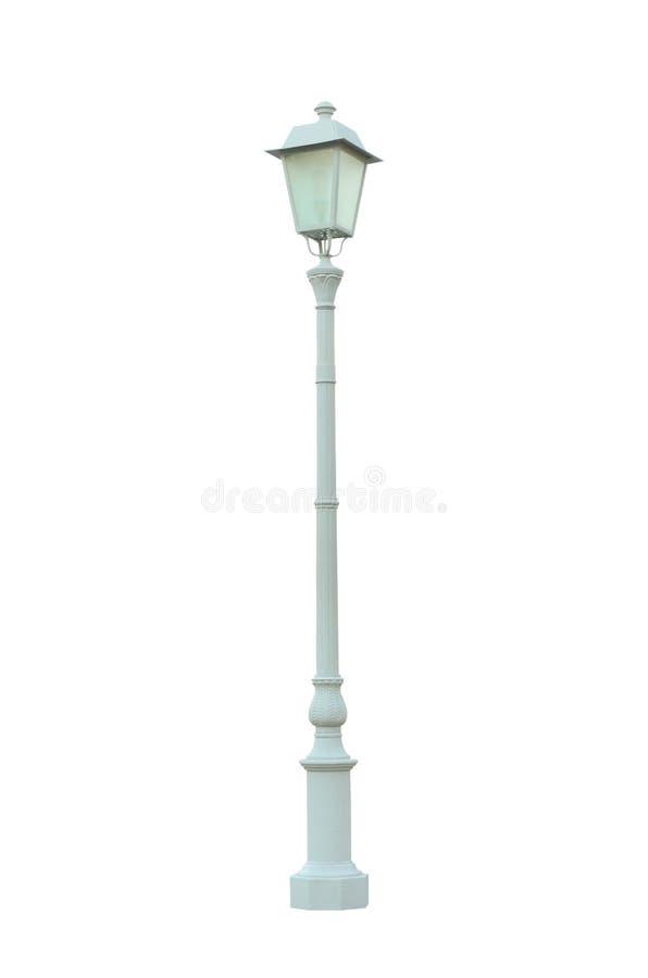 Estrada pólo claro da rua do borne da lâmpada do vintage isolado imagem de stock royalty free