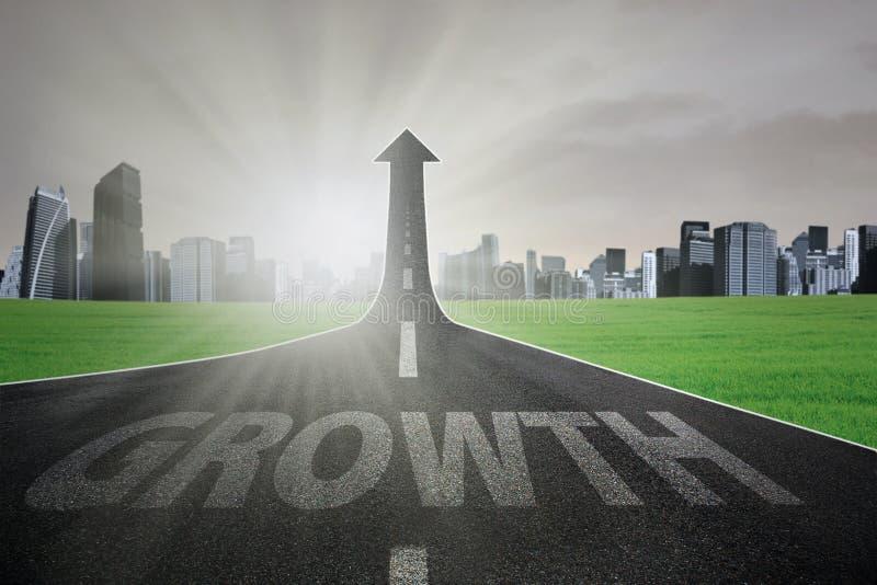 Estrada para o crescimento do negócio ilustração stock