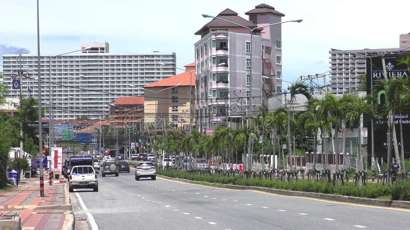 Estrada Pattaya de Jomtien ?a Vista Talay 1 tailândia imagens de stock