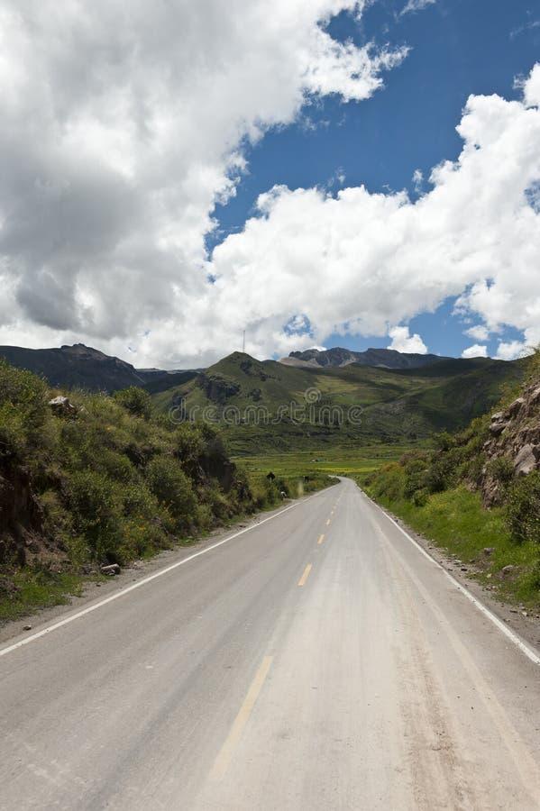 Estrada peruana foto de stock
