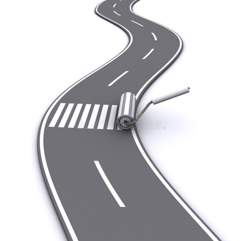 Estrada pintada ilustração do vetor