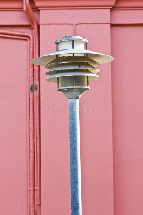 Estrada polo claro da rua do cargo da lâmpada imagem de stock