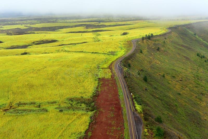 Estrada que conduz à garganta de Waimea fotos de stock