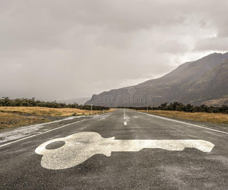 Estrada que conduz ao sucesso imagem de stock royalty free