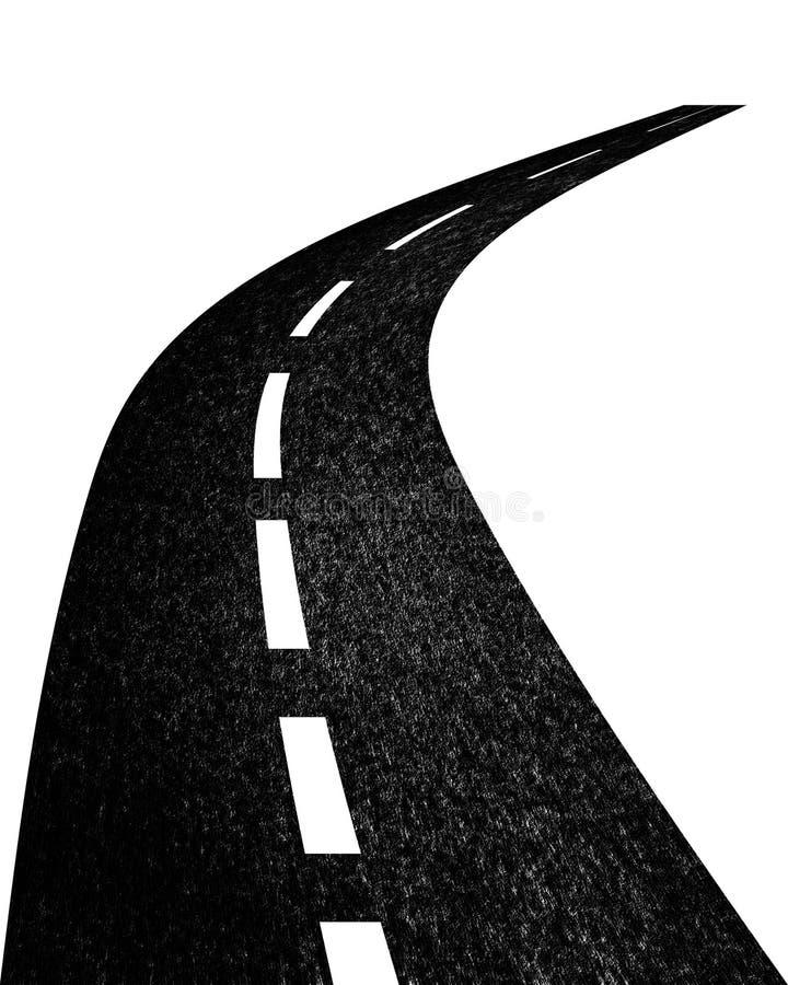 Estrada que desaparece na distância ilustração stock