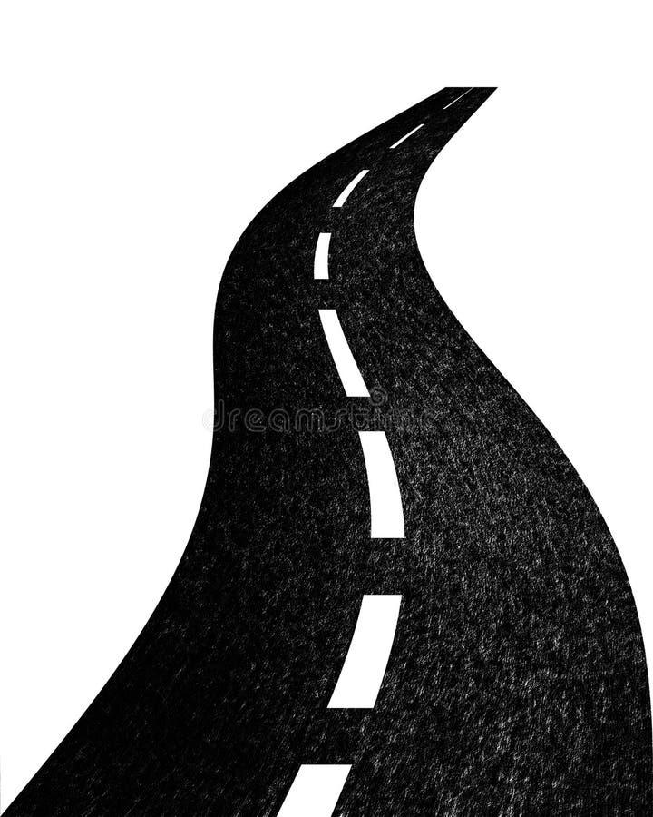 Estrada que desaparece na distância ilustração do vetor